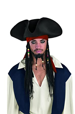 Disguise Men s Disney Pirates Of The Caribbean Original Adult Deluxe Hat  With Beaded Braids e41ac3ab3f12