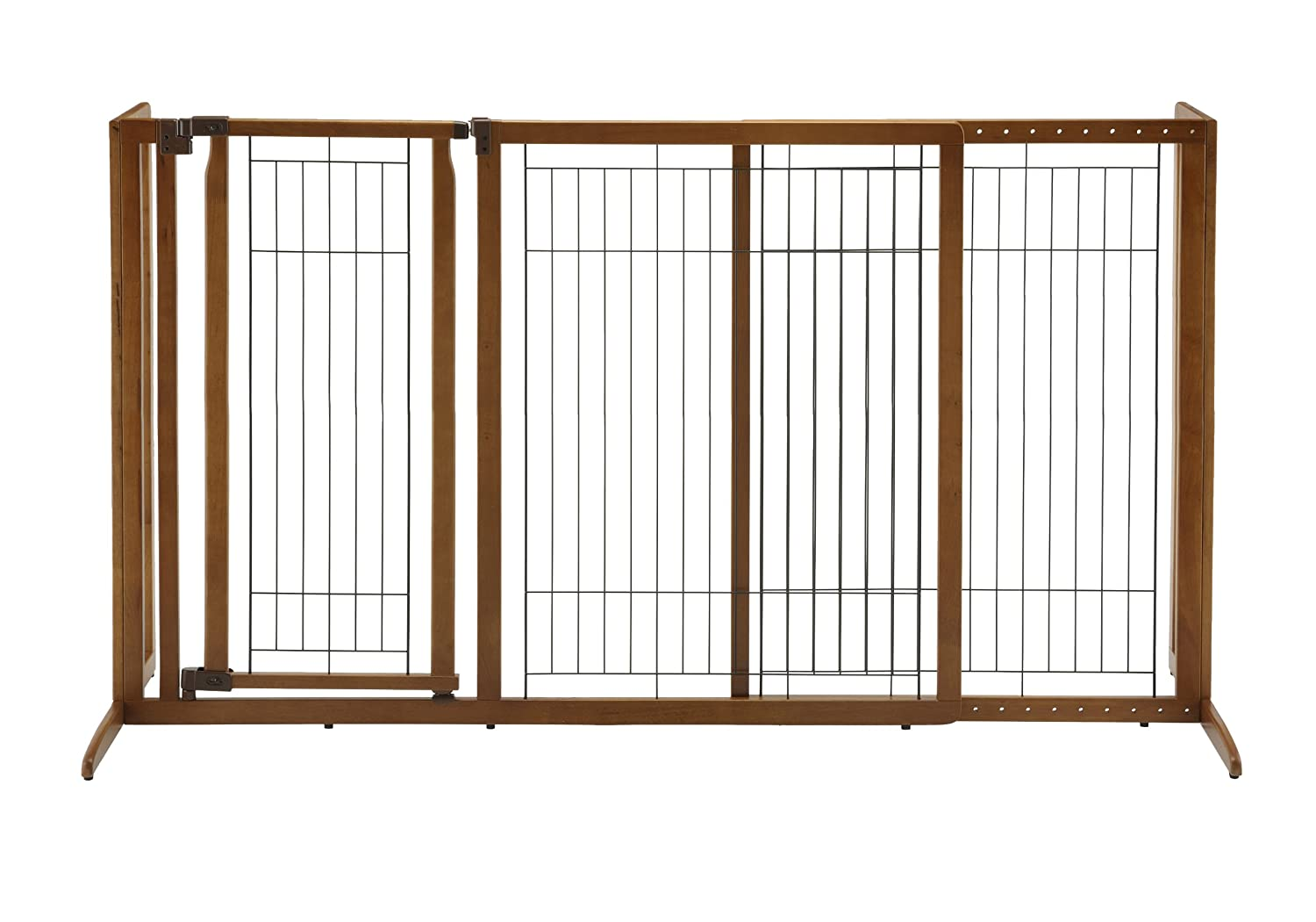 Large Richell 94190 Deluxe Freestanding Pet Gate with Door, Large