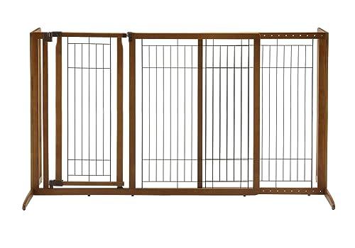 Richell-Deluxe-Freestanding-Pet-Gate-with-Door