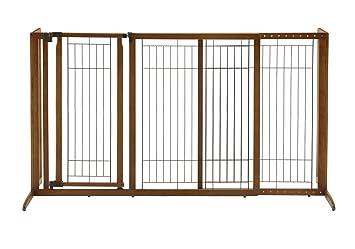 Amazon Com Richell Deluxe Freestanding Pet Gate With Door Large