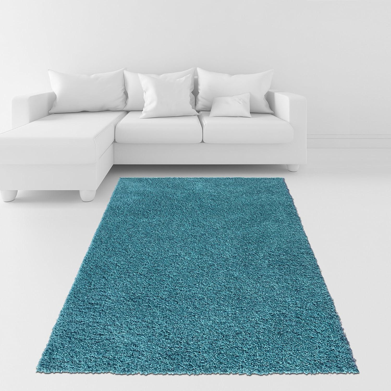 soft shag area rug 3x5 plain solid color turquoise
