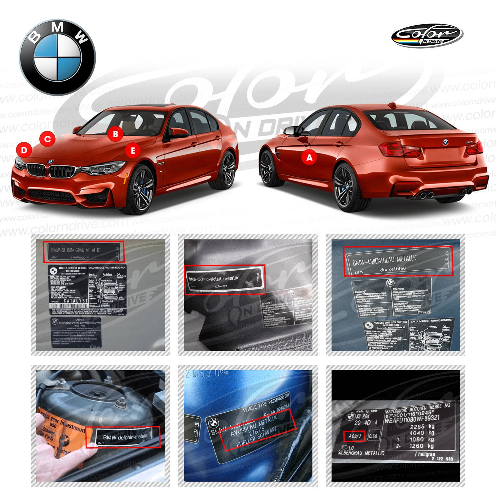 BMW Carbon Black Metallic - 416 Touch Up Paint for All 1, 2, 3, 4, 5, 6, 7, X1, X2, X3, X4, X5, X6 and M Series Paint Scrath and Chips Repair Kit - OEM Quality, Exact Color Match - Pro Pack by Color N Drive (Image #2)