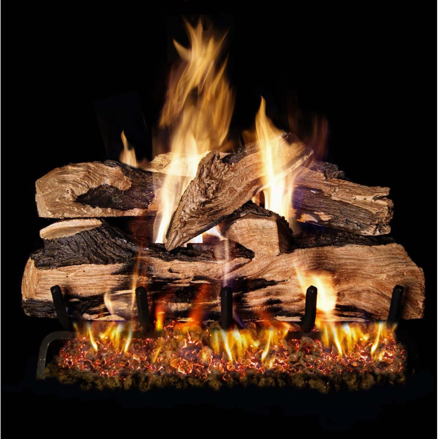 B001LH1ATG Peterson Real Fyre 24-inch Split Oak Designer Plus Log Set With Vented Propane Ansi Certified G46 Burner - Basic On/Off Remote 81YoxZd5kOL.SL1498_