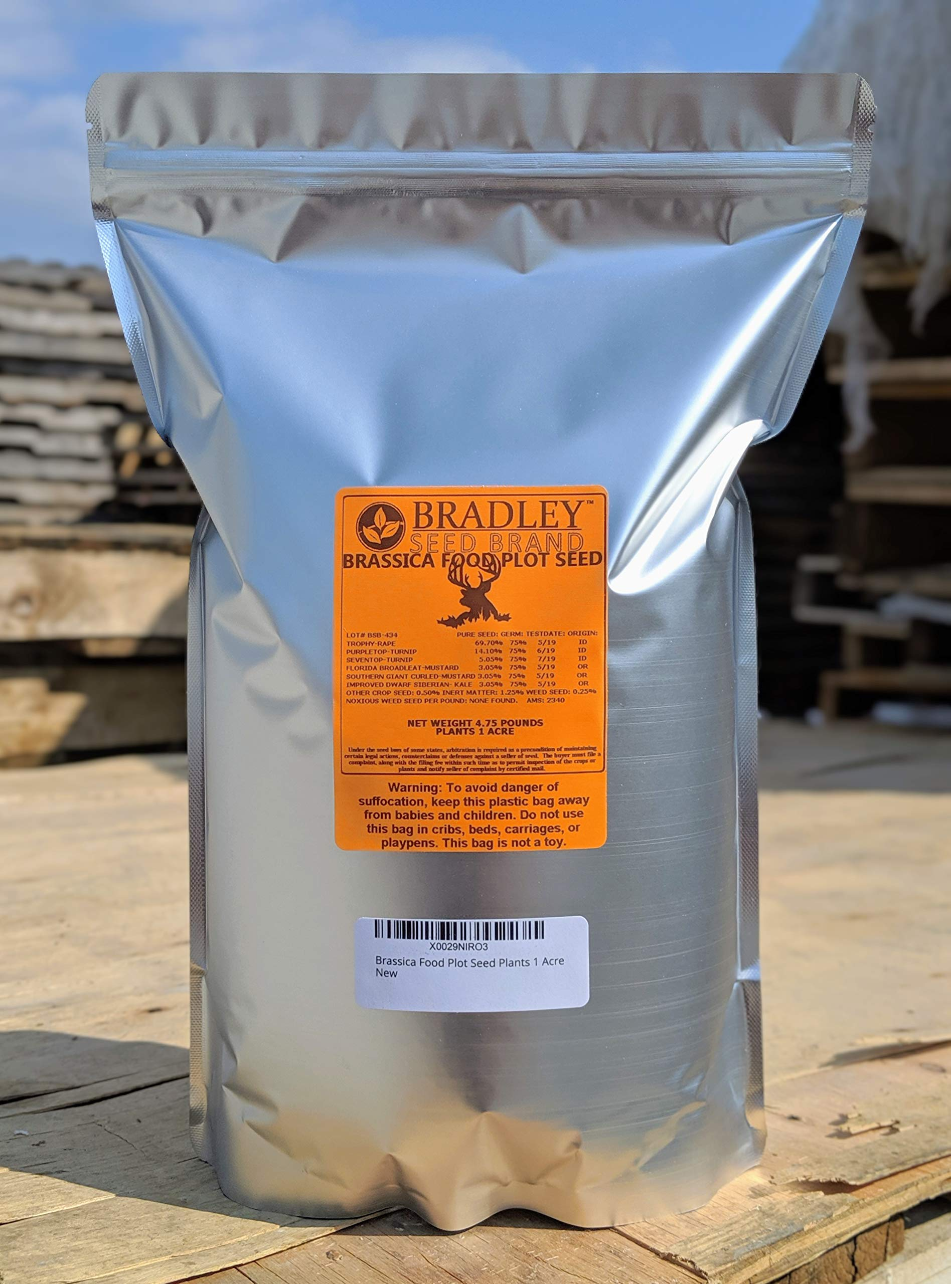 Brassica Food Plot Seed 4.75 lbs 1 Acre by Bradley Seed Brand