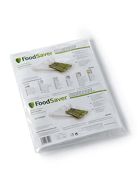 Foodsaver 3201 Bolsa envasado al vacio, Color Blanco, Grande