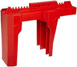 """Brady - BS08A-RD Prinzing Ball Valve Lockout, Large, for 2""""-8"""" Outside Pipe Diameter, Red"""