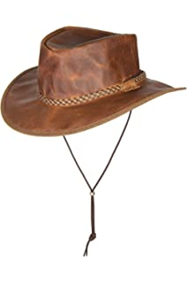 44660b57 Overland Sheepskin Co Rancher Crushable Oiled-Leather Cowboy Hat