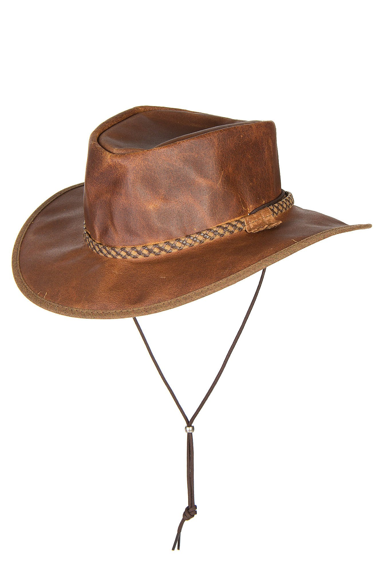 Overland Sheepskin Co Rancher Crushable Oiled-Leather Cowboy Hat