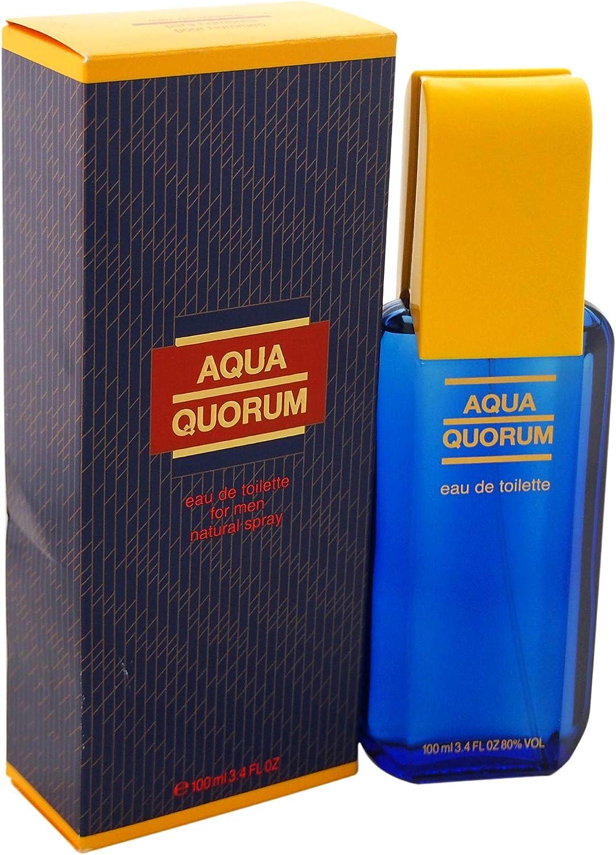 QUORUM Aqua Eau DE Toilette FOR Men 100ML VAPORIZADOR Unisex Adulto, Negro, Único: Amazon.es: Zapatos y complementos