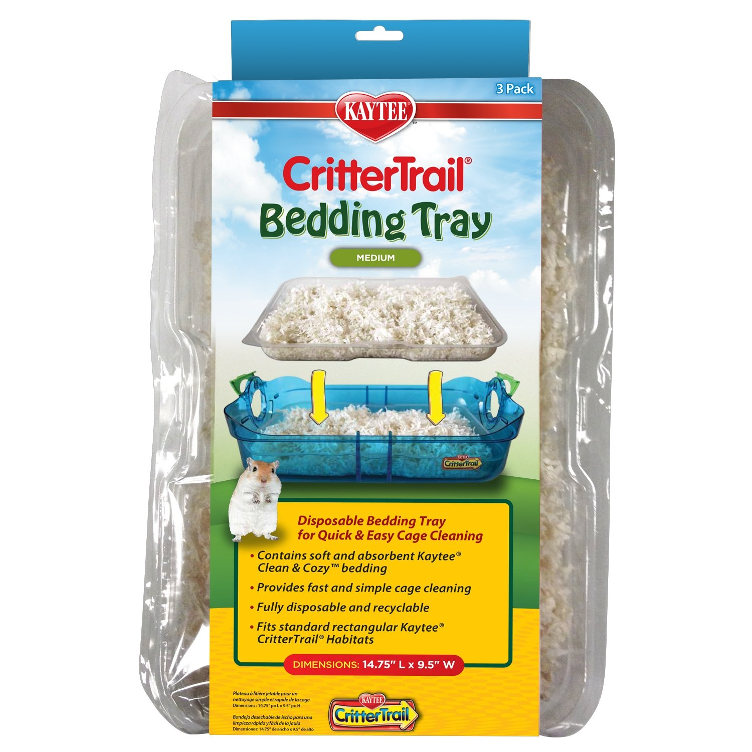 Kaytee CritterTrail Small Animal Habitat Bedding Trays 100516386