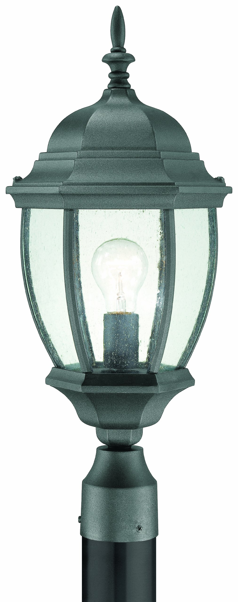 Thomas Lighting SL90107 Covington Outdoor Post Lantern, Black by Thomas Lighting
