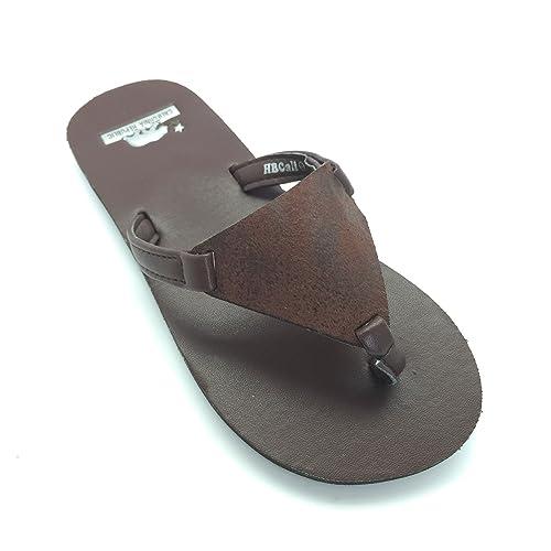 Pantuflas de Cuero HBCali Santa Barbara para Mujer, Marrón (Marrón), 38 EU: Amazon.es: Zapatos y complementos