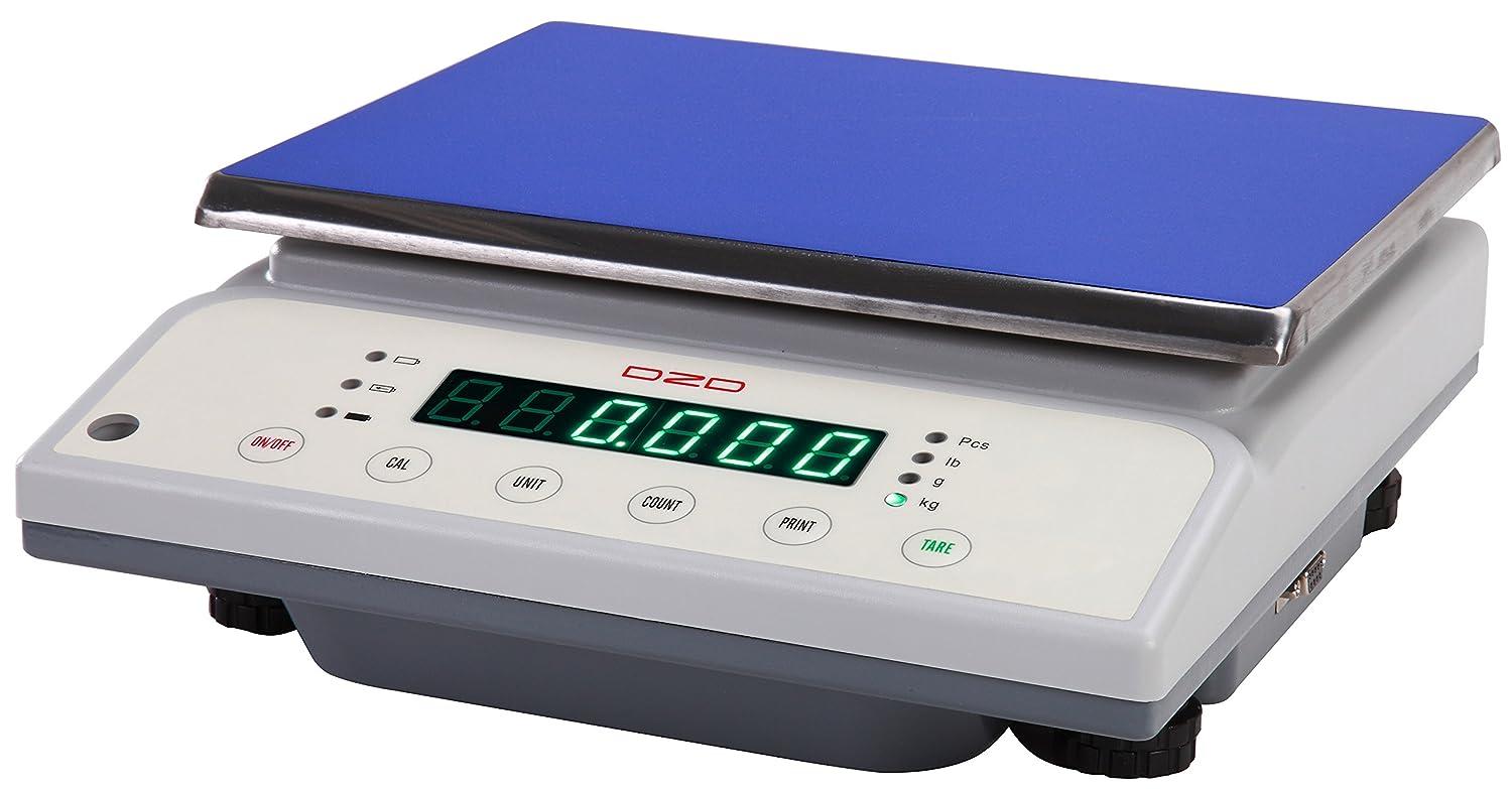 dzd dj30/K bilancia tavolo digitale 1/G fino a 30/kg con grande superficie di carico funzionamento a rete e batteria