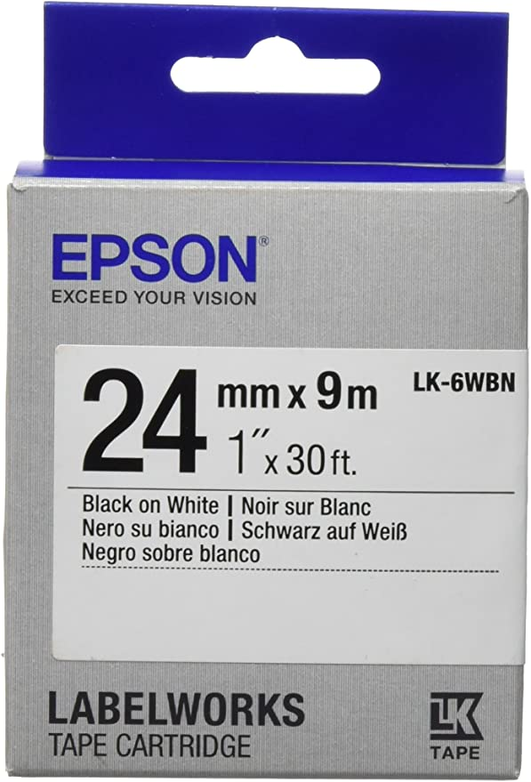 for Epson labelworks LW-300 2x Original VHBW ® Scripture tape 9mm Black//White Comp