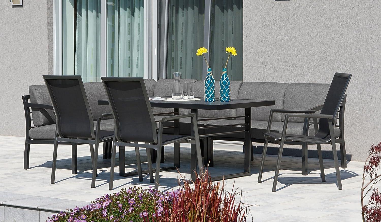 Aluminium Garten Sitzgruppe Essgruppe Mit Eckbank Tisch Und