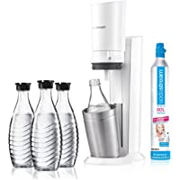 sodastream Crystal 2.0 - Pistola de agua (incluye 3 botellas de cristal), color blanco