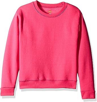 Hanes Big Girls Comfortsoft Ecosmart Fleece Sweatshirt/_Purple Thora/_L
