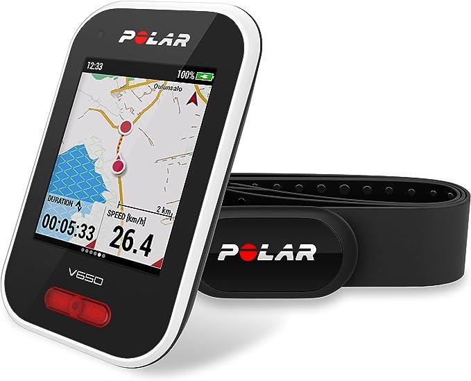 Polar V650 HR - Ciclocomputador con GPS y sensor de Frecuencia ...