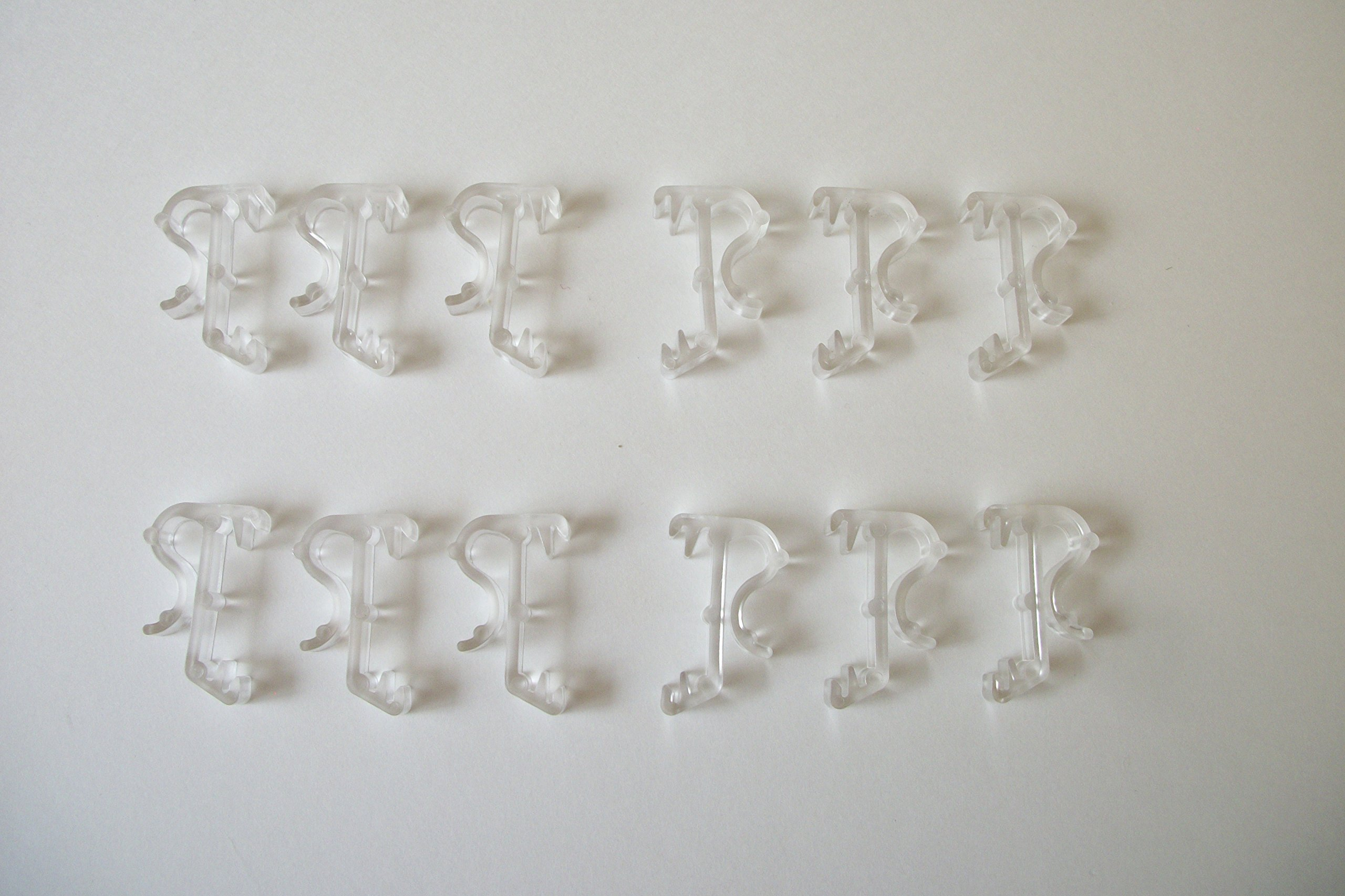 Wood or Faux Blind Single Slat Valance Retainer Clips 30 Pack Clear
