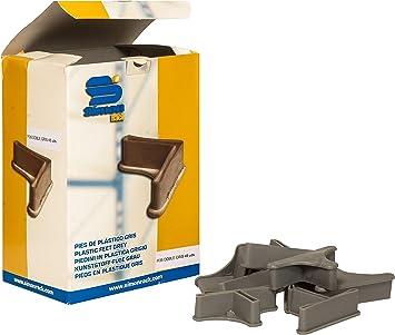 Simonrack 90130000013 - Caja de 48 pies de plástico para estantería, P/35 Doble, Color Gris: Amazon.es: Bricolaje y herramientas