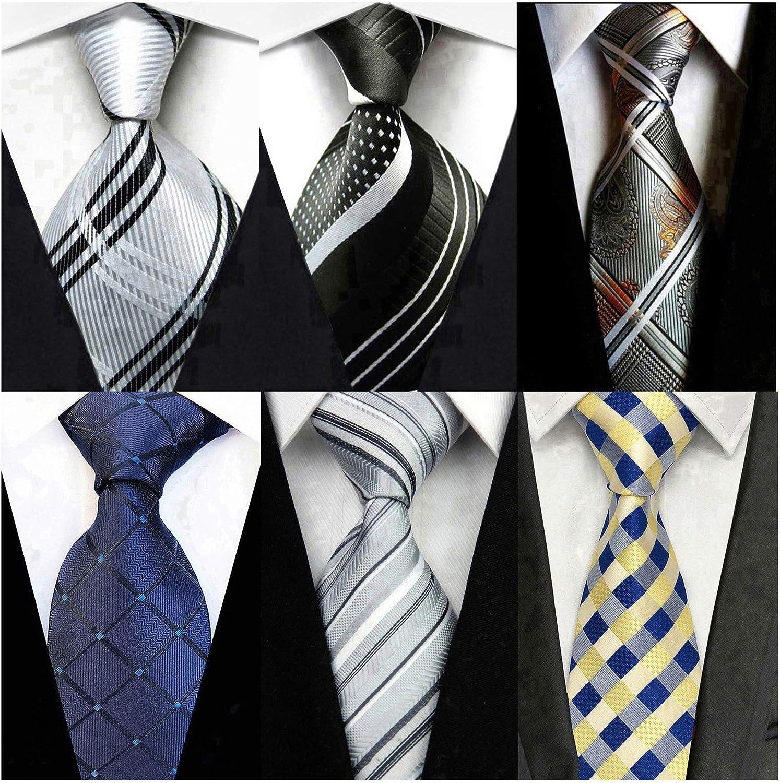 New Classic Ties Striped JACQUARD WOVEN 100/% Silk Men/'s Tie Necktie