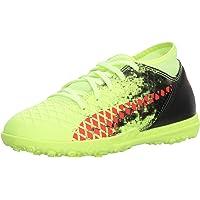 Puma Future 18.4 TT - Zapatillas de fútbol para niños, Fizzy Yellow-Red Blast-puma Black, 17 MX Niño pequeño
