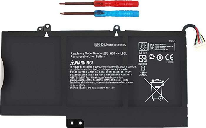 ROCKETY Np03xl Battery Compatible with HP Envy X360 15-u010dx 15-u110dx 15-u111dx 15-u050ca Pavilion X360 13-a010dx 13-a110dx 761230-005 760944-421 TPN-Q146 TPN-Q149 Laptop Notebook Batteries.