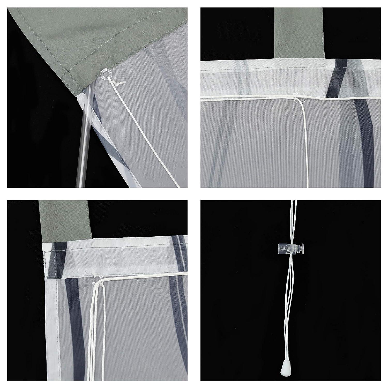 Joyswahl voile tenda avvolgibile Binde Motivo a strisce con accenti colorati /» Heide /« scialle da tenda con passanti finestra tende 1er Pack Poliestere Grau BxH 60x140cm