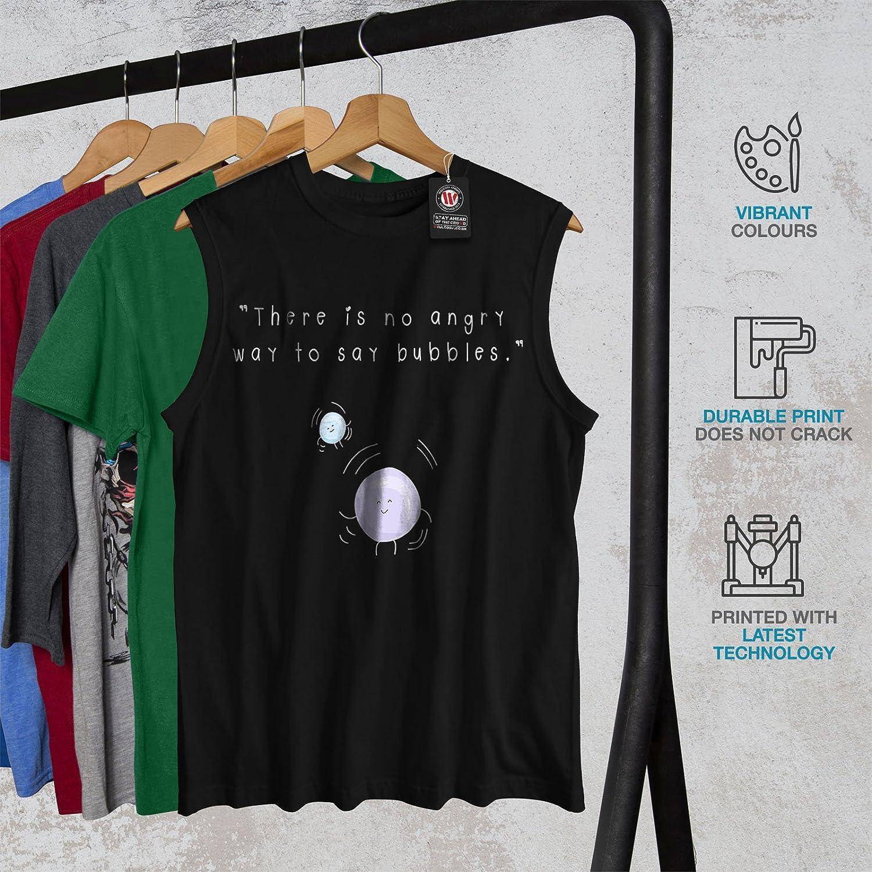Funny Active Top Shirt Wellcoda Angry Bubbles Mens Sleevless T-Shirt