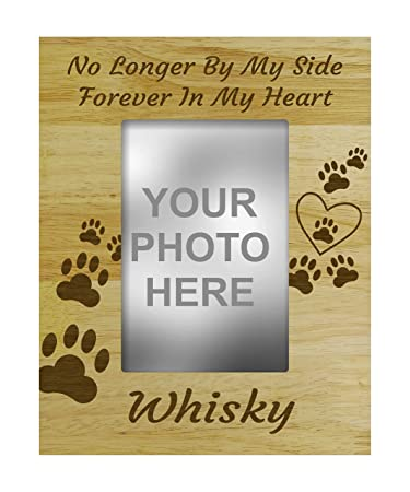 Amazon.com - Personalized Wood Engraved Dog Memorial Picture Frame ...