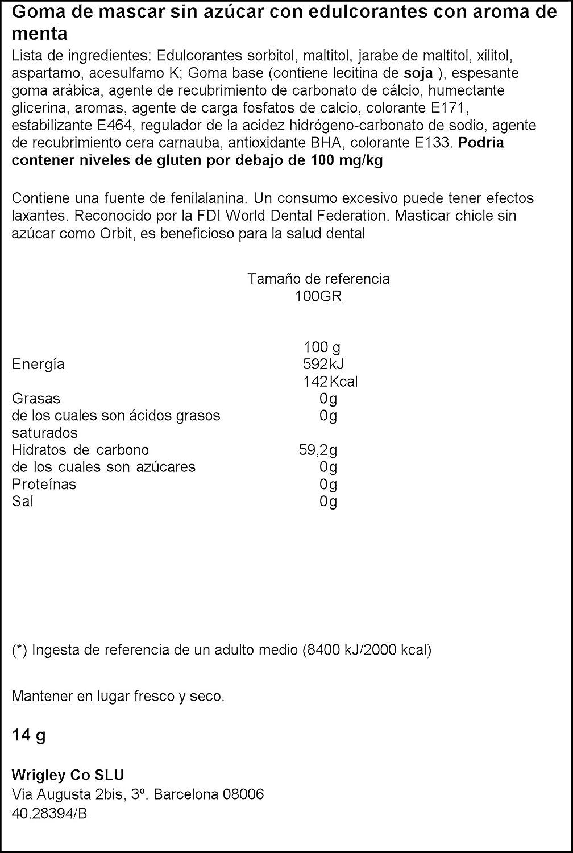 Orbit Chicle sin Azúcar, Sabor Menta Suave - 10 Grageas: Amazon.es: Amazon Pantry