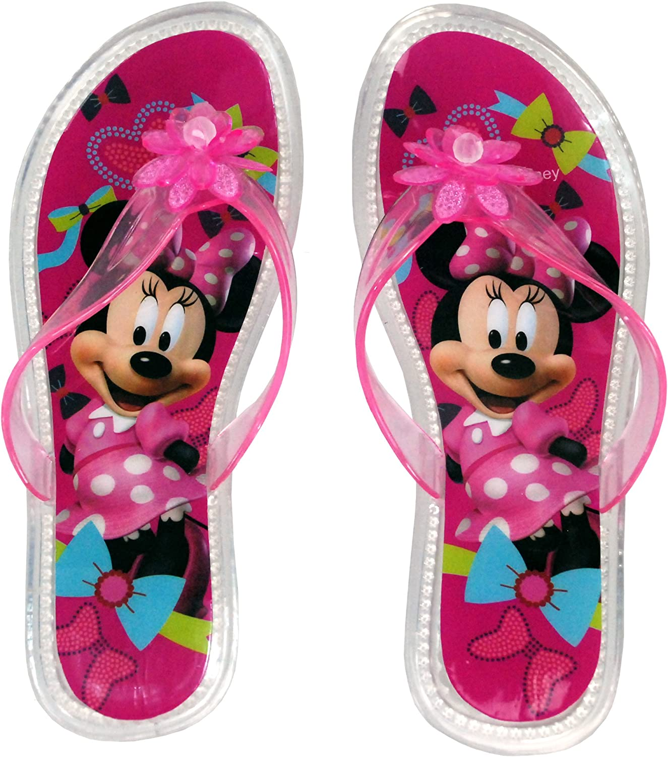 5 Years to 11 Years Disney Genuine Licensed Minnie Mouse Girls Flip Flops Sandals Swimming Pool Beach Slippers Shoes UK Sizes