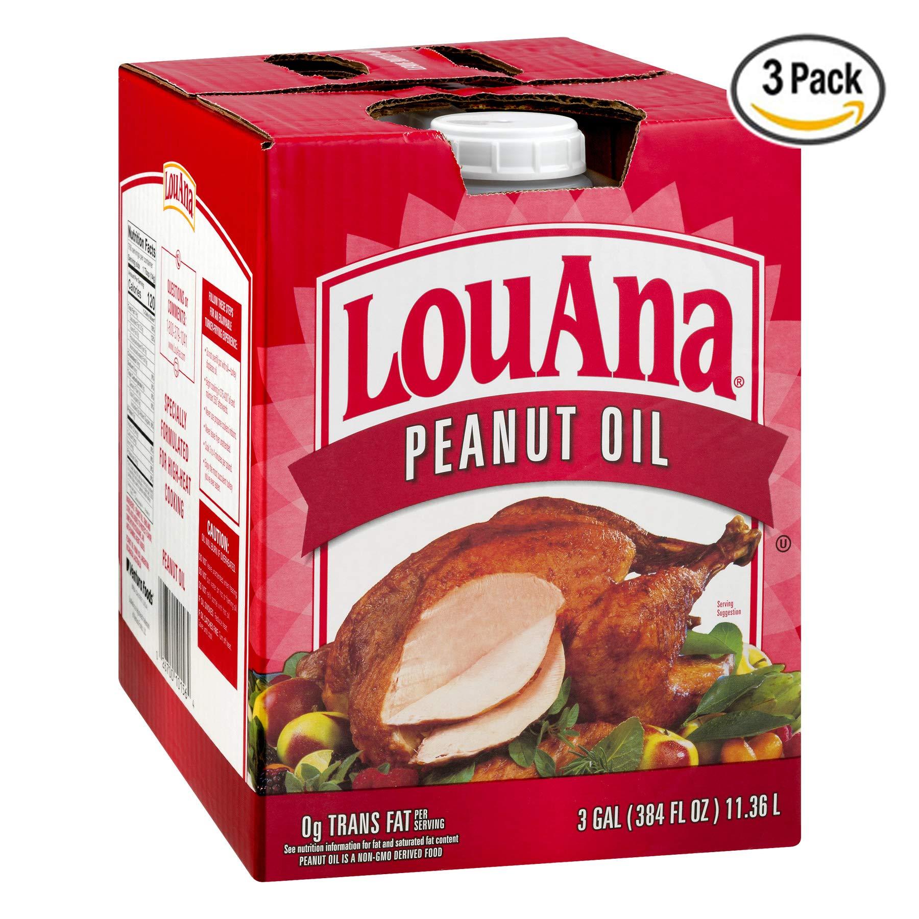 LouAna Peanut Oil, 3 Gallon - Pack of 3 by LouAna