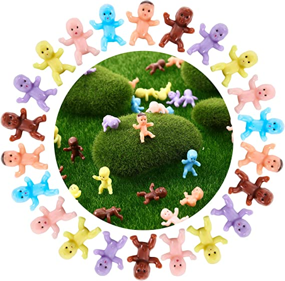 300 PCS Plastic Mini Baby Mini Plastic Baby Doll Toy With Open Hands Baby
