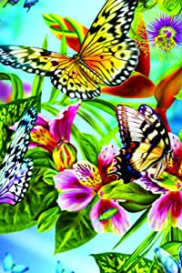 "5D DIY Full Drill Butterfly Diamond Painting Kits,Rhinestone Painting Kits for Adults and Beginner,Diamond Art Painting Home Wall Decor, for Living Room Bedroom Kids Girls Women Gifts(12""X16"")"