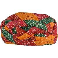 S H A H I T A J Traditional Rajasthani Barmeri Vantma Safa | Turban | Pagdi | Pheta for Kids and Adults - Code VT12501