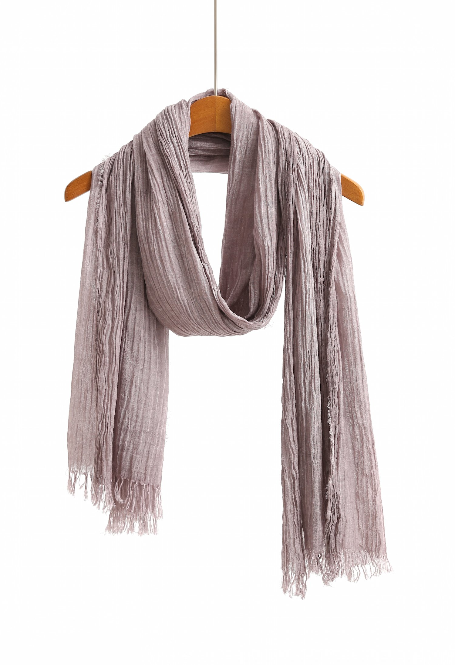 Cotton Scarf Shawl Wrap Soft Lightweight Scarves And Wraps For Men And Women. (Washed purple)