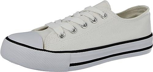 Girls All White Plimsolls Boys Canvas Shoes Ladies Pumps Womens Shoes Size