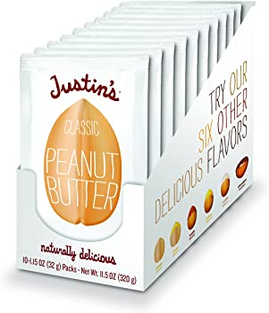 10-Pack Justin's Classic Peanut Butter Squeeze Packs