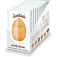 Justin's Classic Peanut Butter Squeeze Packs, Only Two Ingredients, Gluten-free, Non-GMO, Responsibly Sourced, 10 Pack (1.15oz each)