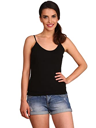 Jockey Women's Cotton Spaghetti Top Camisoles & Vests at amazon