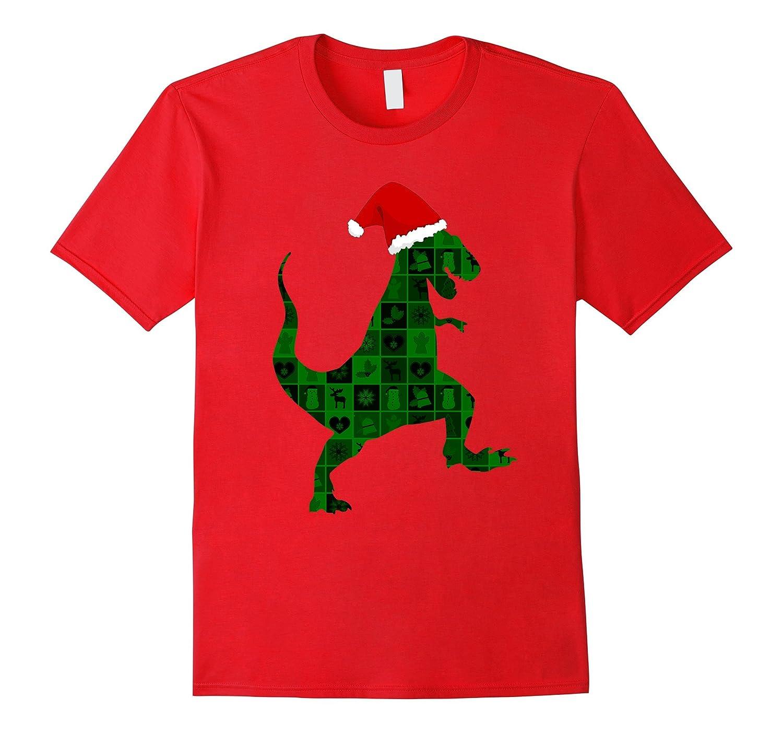 Ugly Christmas Dinosaur T-Shirt Modern Art Dino-ANZ