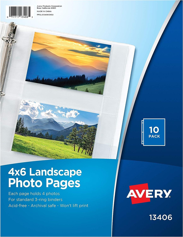 100 ct Archival Album 2-Pocket Storage Pages Photos Ads Paper Items Box