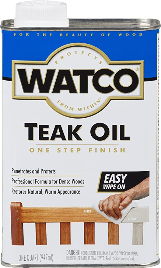 RUST-OLEUM Watco A67141 Teak Oil Finish – Best Budget Teak Sealer