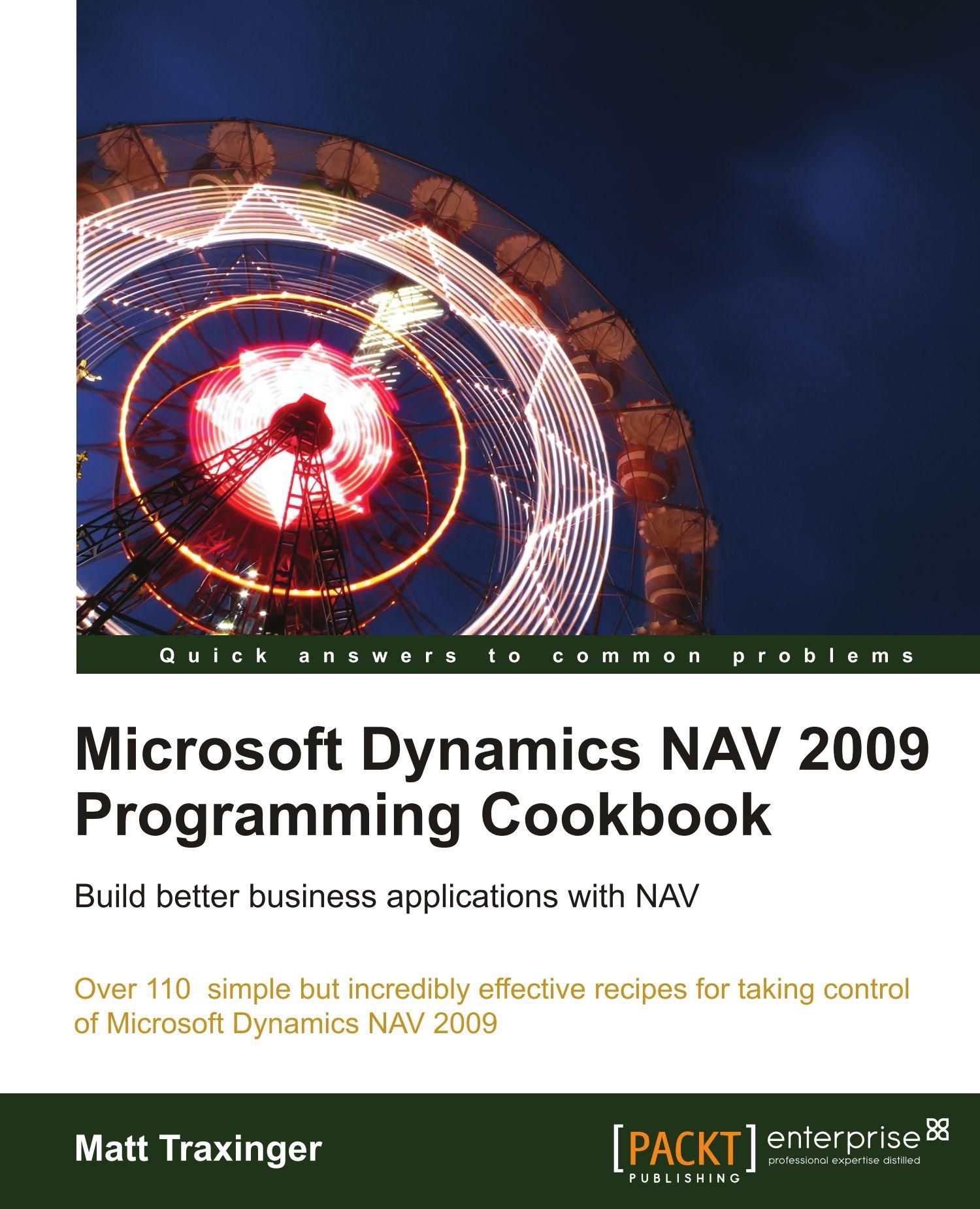 Amazon com: Microsoft Dynamics NAV 2009 Programming Cookbook