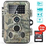 Wildlife Camera, Papake 1080P HD Trail & Game Camera 12 MP Surveillance Camera with 3 Zone Infrared Sensor, Waterproof IP66 with Time Lapse 65ft 120°Wide Angle Night Vision with 42pcs IR LEDs
