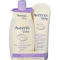 Aveeno 艾维诺 婴儿舒缓沐浴乳+润肤露,婴儿护肤品,2件套