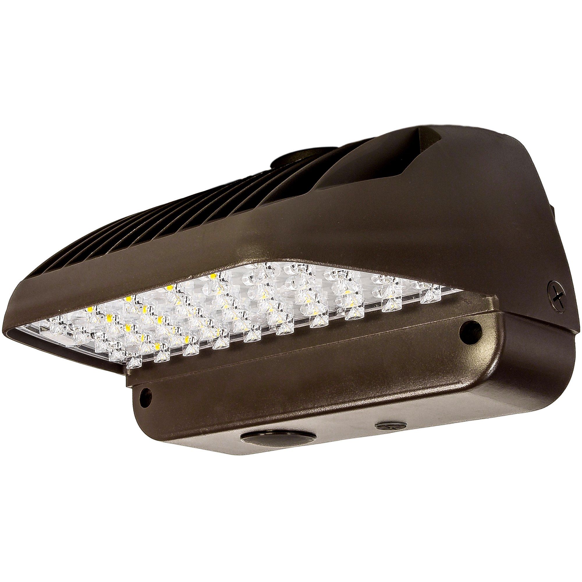 60W LED Wall Pack with Built in Dusk to Dawn Sensor 5000K Bright White Outdoor Lighting Fixture DLC Approved Wallpack