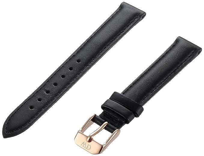 8e2f8afb9 Daniel Wellington 1001DW - Correa de Cuero para Reloj de Mujer, Color Negro  (13.0