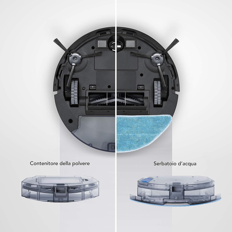 ECOVACS Robotics DEEBOT 715 - Robot Aspirador con Intelligente Camera-tecnologia (módulo Intercambiable: aspira y friega), Poder de succión MÁX, ...